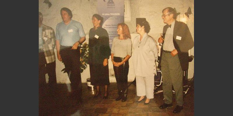 "2000: At the book presentation of ""The Flight of the Quantum Butterfly"""
