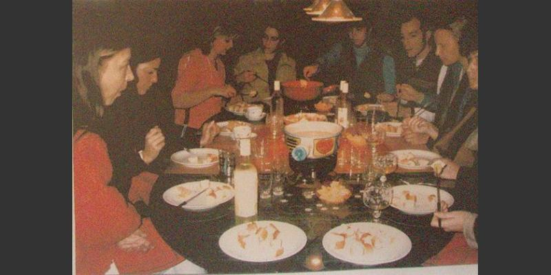 2002: Cheese Fondue and happy students
